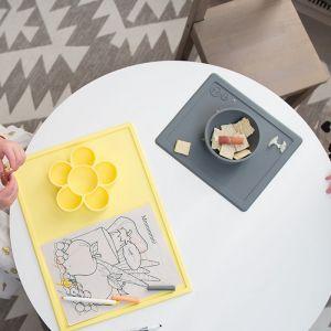 Siliconen kom met placemat Mini Bowl grijs EZPZ