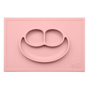Siliconen placemat met bord Happy Mat blush EZPZ
