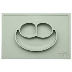 Siliconen placemat met bord Happy Mat Sage EZPZ