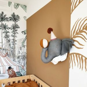 Dierenkop Circus Olifant pompom grijs  Love Me Decoration