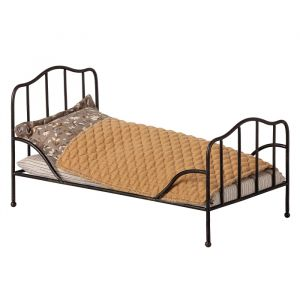 Vintage bed antraciet (mini) Maileg
