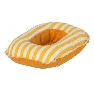Miniatuur rubberboot yellow stripe (kleine broer/zus) Maileg