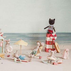 Miniatuur strandtas met accessoires Maileg