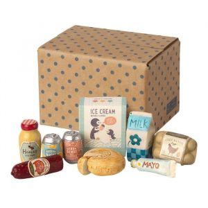 Miniatuur boodschappen in doos Maileg