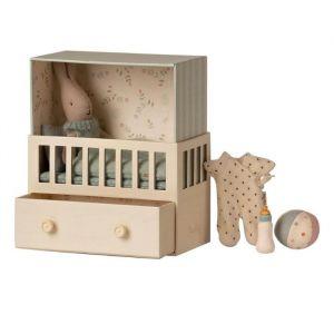 Konijn in babykamer blauw (micro) Maileg