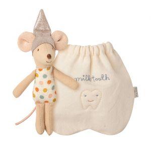 Kleine tandenfee muis met tandenzakje Maileg