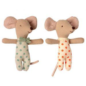 Tweeling muisjes in luciferdoosje (babymuis) Maileg
