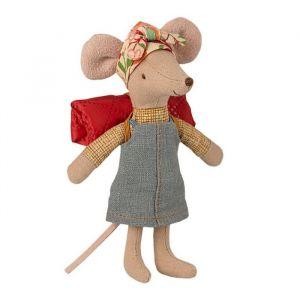 Hiker muis meisje (grote zus) Maileg