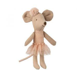 Ballerina muis roze (kleine zus) Maileg