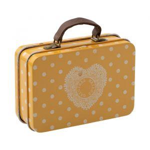 Metalen koffertje yellow dot (7cm) Maileg