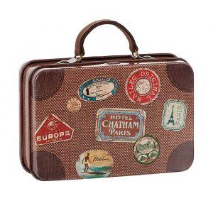 Metalen koffertje travel bruin (7cm) Maileg
