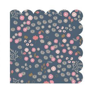 Servetten Petites Fleurs blauw (20st) Maileg