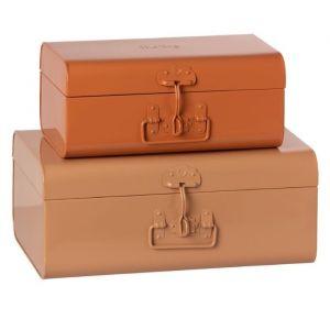 Metalen kofferset powder/rose (2st) Maileg