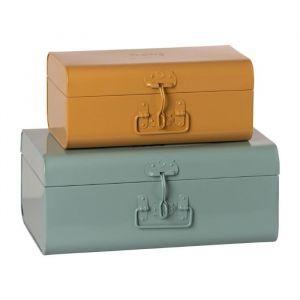 Metalen kofferset blue/ocher (2st) Maileg