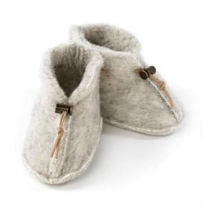Slofjes Emo Wool light grey Alwero