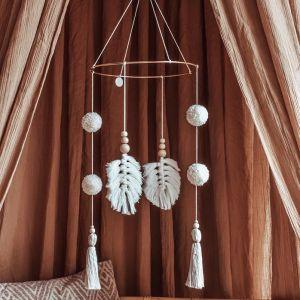 Mobiel Pompom Boho off white Cotton Design
