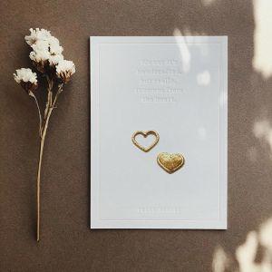 Strijkembleem Twinning Hearts goud Petit Pourri