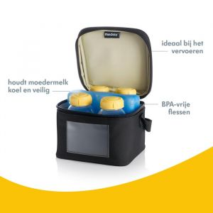 Medela koeltasje inclusief 4 moedermelkflesjes