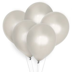 Ballonnen zilver (10st) Perfect Basics House of Gia