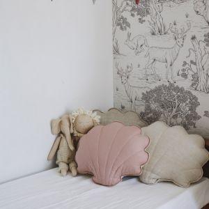 Kussen Shell linnen powder pink Moi Mili
