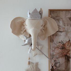 Toverstaf en kroontje pailletten zilver Moi Mili