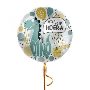 Folieballon Hiep hiep hoera Dino