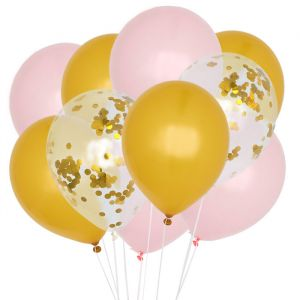 Ballonnenmix Roze & goud (10st) House of Gia