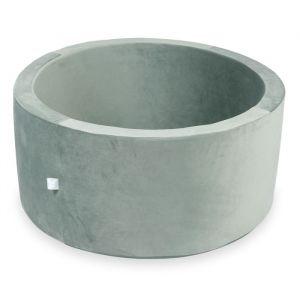Ballenbak XL rond 90x40 velvet grijs Moje