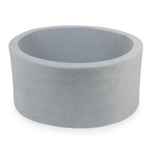 Ballenbak XL rond 90x40 velvet light grey Moje