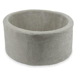 Ballenbak XL rond 90x40 rib velvet grey Moje