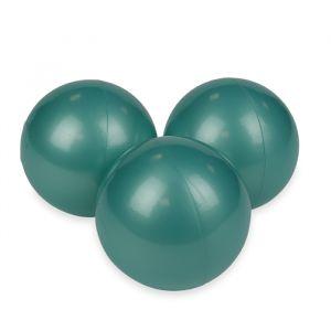 Ballenset ballenbak metallic turquoise (50st) Moje