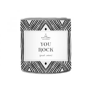 Geurkaars groot You Rock Fresh Cotton The Gift Label
