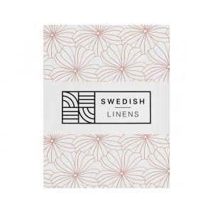 Hoeslaken ledikant Flowers white Swedish Linens