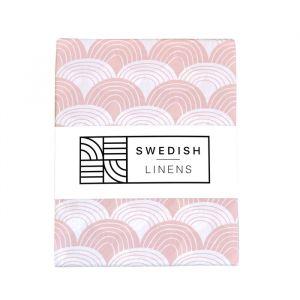 Hoeslaken ledikant Rainbows nudy pink Swedish Linens