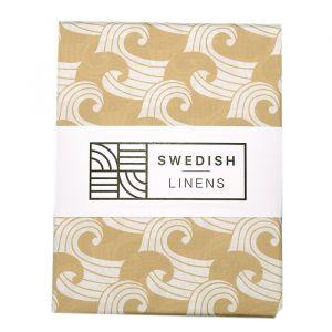 Hoeslaken ledikant Waves warm sand Swedish Linens