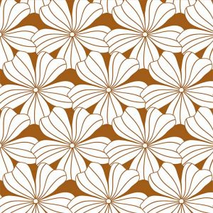 Hoeslaken wieg Flowers cinnamon brown Swedish Linens