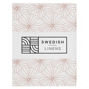 Hoeslaken wieg Flowers white Swedish Linens