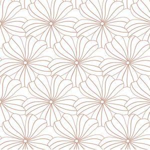Hoeslaken wieg Flowers white Swedish Linens