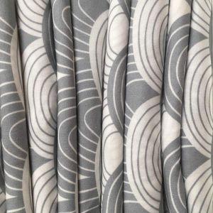 Hoeslaken wieg Rainbows tranquil gray Swedish Linens