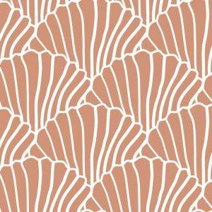 Hoeslaken wieg Seashells terracotta pink Swedish Linens