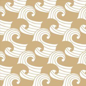 Hoeslaken wieg Waves warm sand Swedish Linens
