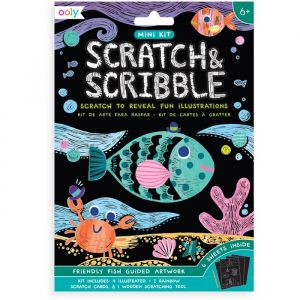 Mini scratchboek Friendly Fish Ooly