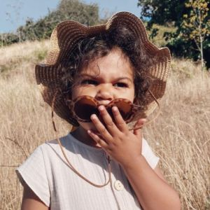 Zonnehoed Straw Blush (2-9 jaar) Mrs. Ertha