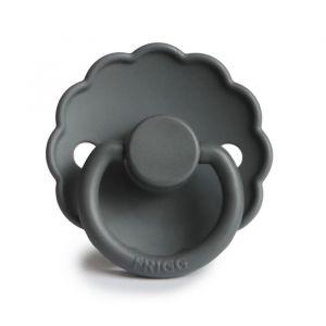 Frigg fopspeen silicone Daisy graphite