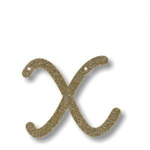 Letter X - Acryl slinger goud