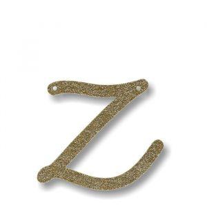 Letter Z - Acryl slinger goud