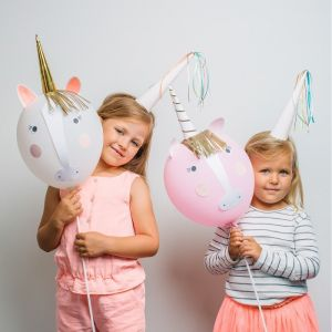 Unicorn ballonnenset (4st)