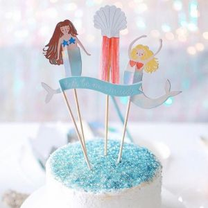 Cake toppers Let's be Mermaids Meri Meri (4st)