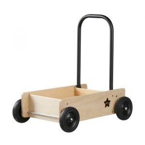 Houten wandelwagen NEO naturel/zwart Kids Concept