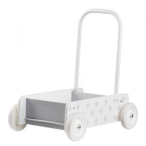 Houten wandelwagen ster wit/grijs Kids Concept